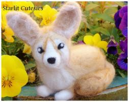 Needle Felted Fennec Fox! For Sale by Charlottejks
