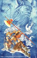 Thor and Walkuere by cicadella