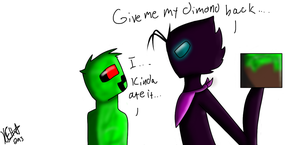 Prince the Enderman And Creeper the Creeper by Kaybug2K