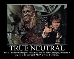 True Neutral Han Solo by 4thehorde