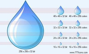 Water drop Icon by medical-icon-set
