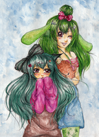 CE--Muri and Minty by violent-cat