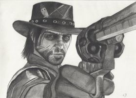 John Marston Drawing by Toner44rblx