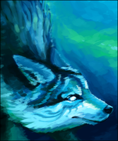Elemental Wolf: Water by Pseudolonewolf