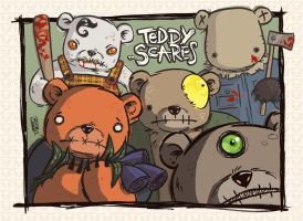 Teddy Scares by liliesformary
