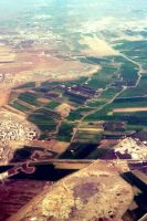 damascus from the plane by dimajaber