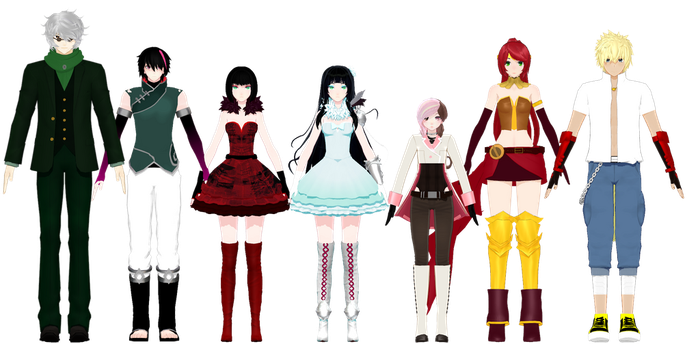 (MMDxRWBY) Upcoming model pack! by naruchan101