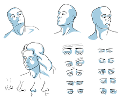 face and shading practice by asocialconstruct