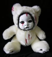 White Bloody DollFaced Horror by TheTBGallery
