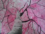 Oil Pastel Perspective Tree by sarahattalla