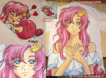 Lacus Clyne Painting by Prince-in-Disguise