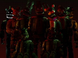 The Return to Freddy's 4 All Animatronics New! by TheSitciXD