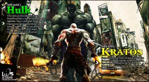 Hulk vs Kratos by AiOrT