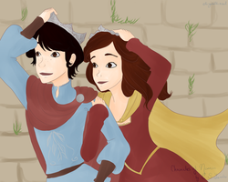 We're late. Lucy and Edmund -Narnia Time by Say-Erizabesu