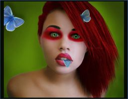 Butterfly Eater by RoseOnyxis