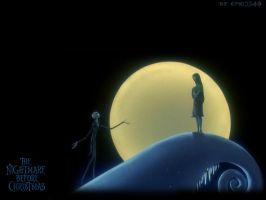 NBXmas wallpaper-Jack+Sally- by enri2349