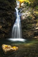 Autumn Waterfall by mutrus