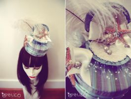 Seashell Clam Pillbox Hat by apatico