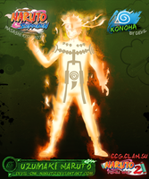Naruto 9-Tails Chakra Mode by Devil by devil-one-naruto