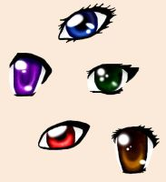 Anime eyes by lady-of-crow
