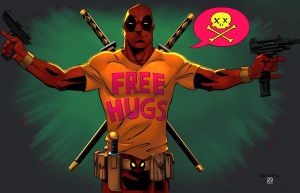 Deadpool Free Hugs colored by NJValente