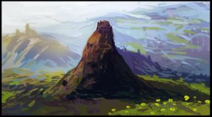Mountain Temple Study by sur-mata