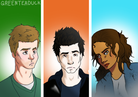 Being Human: The Trio by greenteaduck