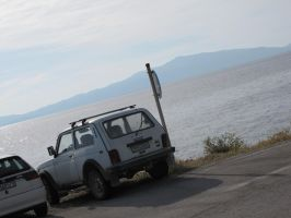Russian offroader enjoys the view by Night-traveller