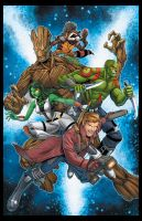Guardians of the Galaxy by RossHughes