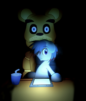 Five night's of freddys with The Living Thomstone by Koryt2345