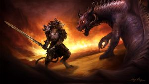 Charr vs Dragon by GenjiLim