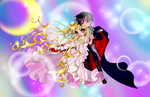 Princess Serena and Prince Darien by AngieMP