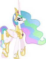 Princess Celestia going to war by Vector-Brony