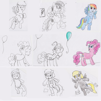 Rainbow Dash and Pinkie Pie and Derpy by The-Bryce-Is-Right