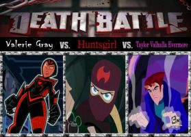 Death Match, The Ghost Huntress vs. The Dragon Sla by srebak