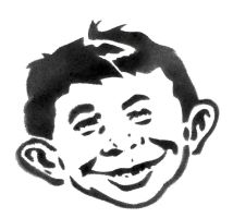 Alfred E Neuman-STENCIL by crusty-punk