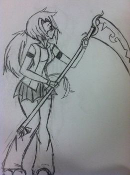 Random scythe girl. by Symmetricallife