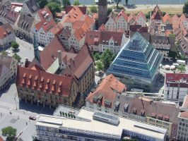 Old and modern town hall Ulm by Arminius1871