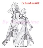 Request 8- Roxas and Axel by Tanaxanime