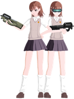 . : RE:QUEST - Misaka Mikoto : . by Yuuu-chan