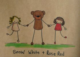 Snow White and Rose Red by Pinkie-Perfect