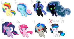 Shipping adoptables by Tornblackribbons