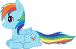 Pixel Rainbow Dash by Spiritedflight