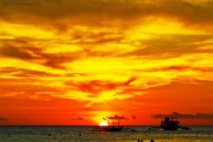 Boracay Sunset by Mina-Ficent