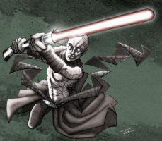 Dark Jedi Asajj Ventress by TWKeller