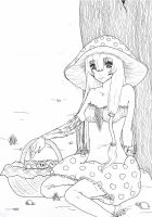 Mrs. Toadstool - Lineart by ShihonRainbow