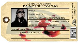 dA-Morgue toe tag ID by MagusMainyu