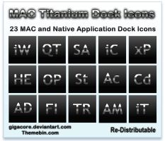 Titanium Mac Dock Icons by Gigacore