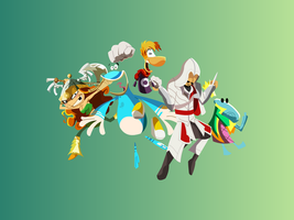 Rayman Legends Casts and I by Andalusio