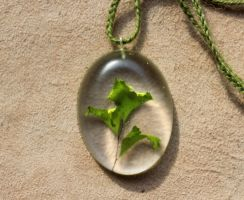 Eco Resin Necklaces! by lupagreenwolf